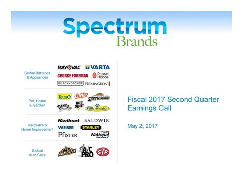 spectrum brand holdings inc 2017 q2 results earnings