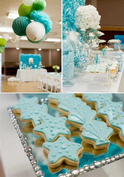 The Sea Birthday Decorations by The Sea Mermaid 3rd Birthday Via Kara S