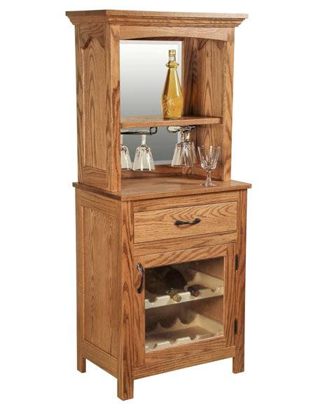 Dining Room Display Cabinet solid oak wine rack amish direct furniture