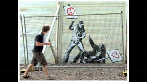 street artist banksy  graffiti stencil art