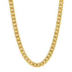 s 5mm 14k yellow gold plated classic cuban link chain