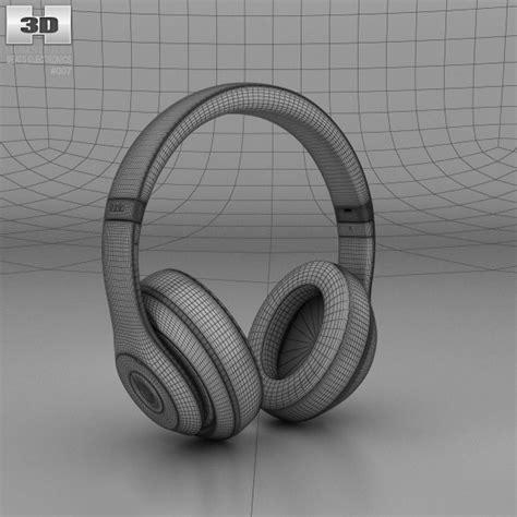 Beats By Dr Dre Studio On Ear Headphone White Clear Bass 1 beats by dr dre studio ear headphones 3d model