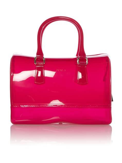Lollipops Pink Patch Medium Bag by Furla Pink Medium Bowling Bag In Pink Lyst