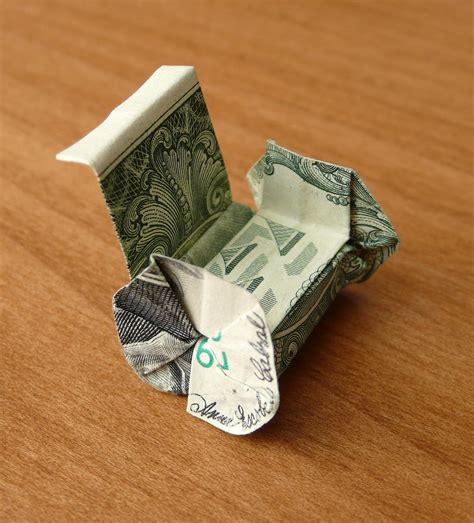 How To Make Origami With A Dollar Bill - dollar bill origami wheelchair by craigfoldsfives on