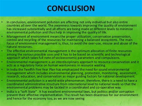 Pollution conclusion essay