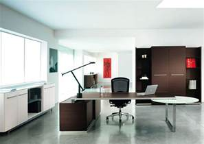 Modern Executive Office Design With Two Tone Interior Office Designer Furniture 2