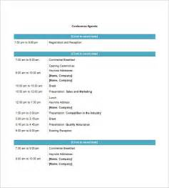 Agenda Template Word by Conference Agenda Template 8 Free Word Excel Pdf