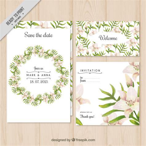 wedding invitation freepik floral wreath wedding invitation vector free