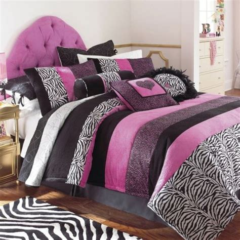 pink and black zebra bedding girls pink black zebra animal fur polka dot bedding