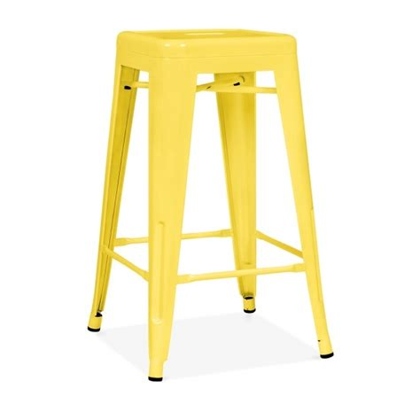 diarrhea yellow xavier pauchard tolix style 65cm stool yellow image 2