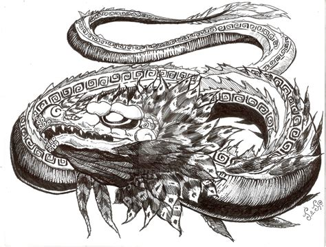 quetzalcoatl tattoo design quetzalcoatl design 2 by unoyente