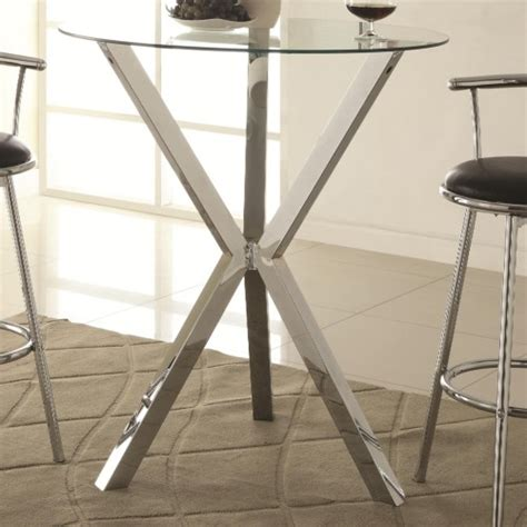 bar table glass top coaster bar units and bar tables round pub table with glass top and x shaped chrome