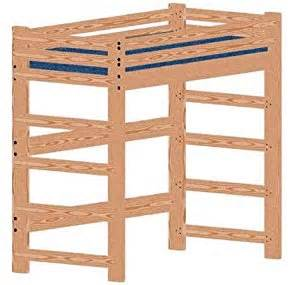 Loft Beds Build Your Own Plans Loft Bed Woodworking Plan Not A Bed Or Bunk Bed