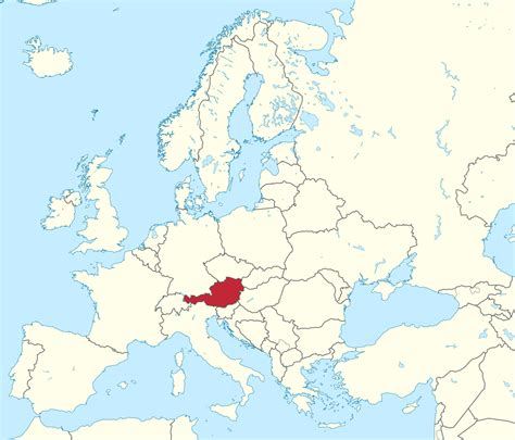 austria on the world map file austria in europe rivers mini map svg wikimedia