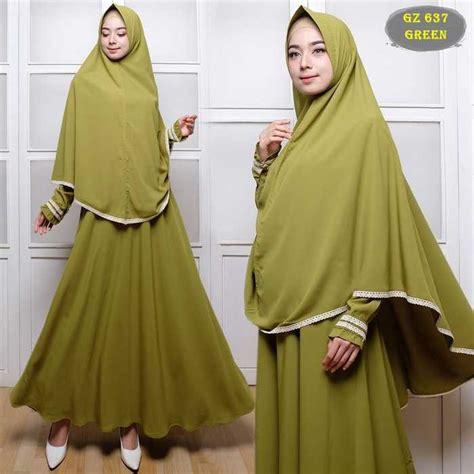 Baju Polos Elzatta gamis polos untuk umroh gz637 hijau model baju gamis terbaru