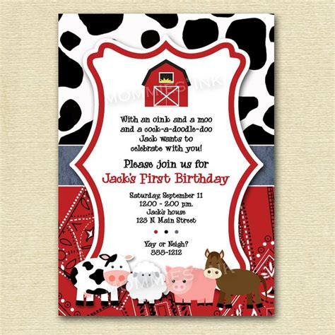 Free Farm Themed Birthday Party Invitations Template Drevio Invitations Design Free Farm Birthday Invitation Templates