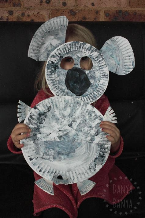 Koala Paper Plate Craft - koala and joey craft for danya banya