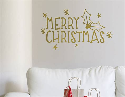 gold merry wall sticker contemporary wall stickers