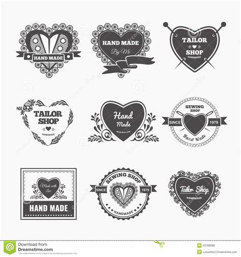 Made Or Handmade - logo fait illustration de vecteur illustration du
