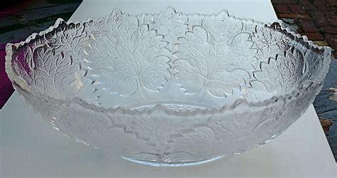 maple leaf pattern glass maple leaf pattern gillinder glass bowl from