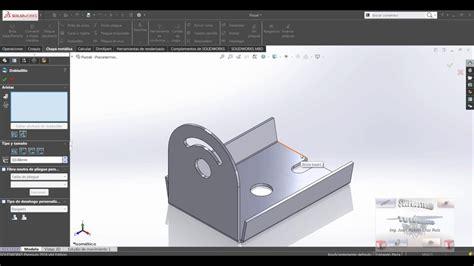 tutorial de solidworks curso y tutorial de solidworks chapa metalica pieza 1