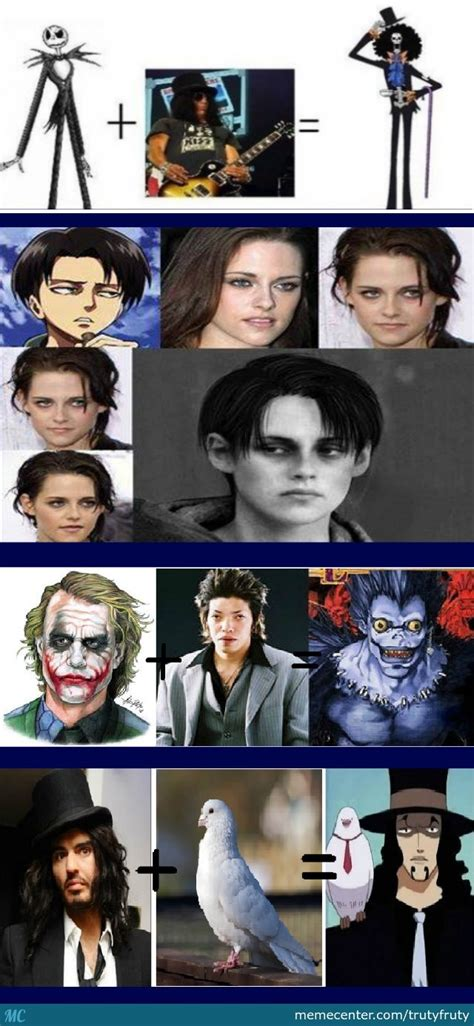 mix  real life people  anime characters