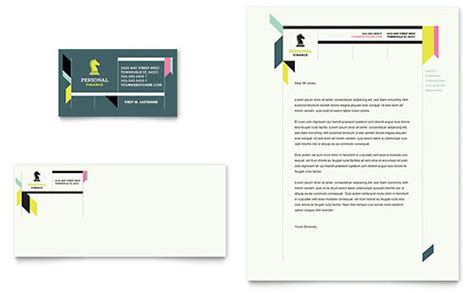financial services letterhead templates design examples