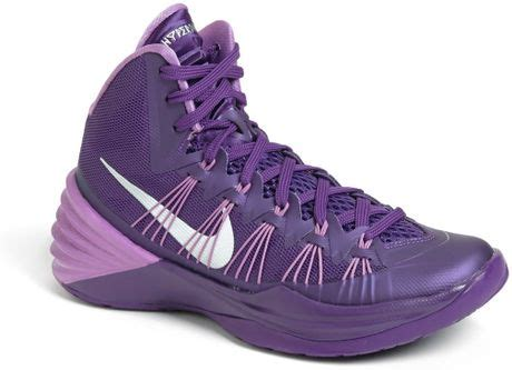 purple nike basketball shoes nike sneakers s high tops trainers lyst