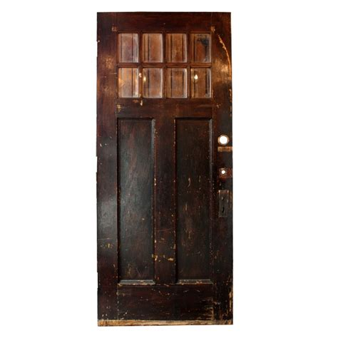 Antique Salvaged Exterior 36 Door With Beveled Glass Salvaged Exterior Doors