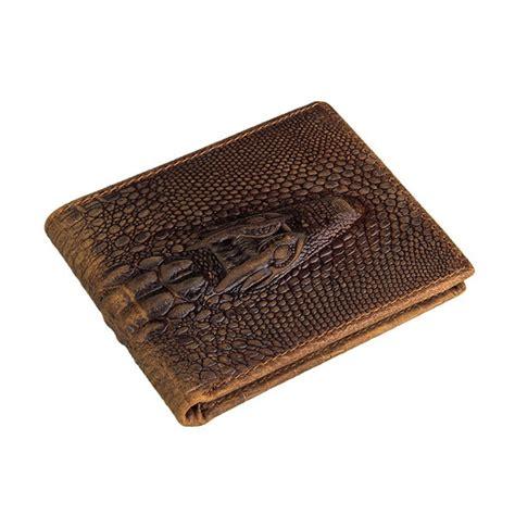 pattern leather wallet crocodile pattern leather wallet