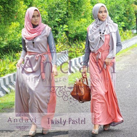 Maxi Jihania Bergo model dress muslimah remaja modern 2 sisi model baju