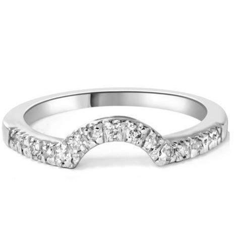 womens curved diamond wedding bands ebay