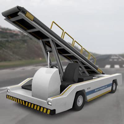 airport cars 3d model airport baggage transporter car