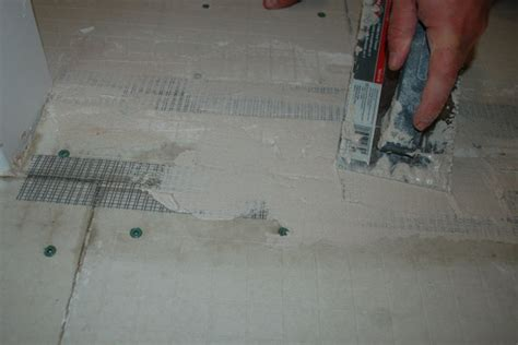 how to install cement board on bathroom floor install tile backer board on sub floor icreatables com