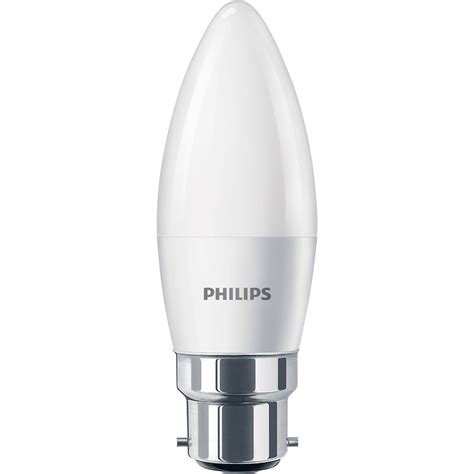 candele led philips philips led frosted candle l 5 5w bc b22d 470lm