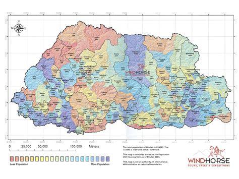 where is bhutan on a world map bhutan tourist destinations