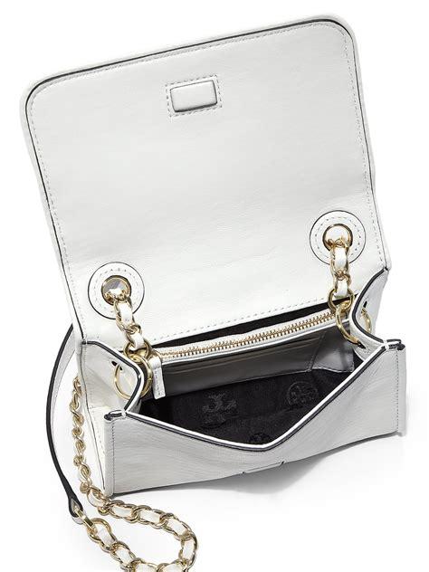 Burch Flemming Small Black 1 burch fleming mini crossbody bag in white lyst