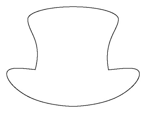 hat templates snowman top hat template printable search results