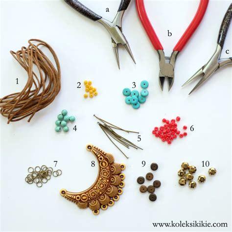 membuat gelang etnik membuat kalung tali etnik koleksikikie