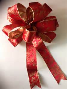 christmas tree topper bow red and gold beautiful by