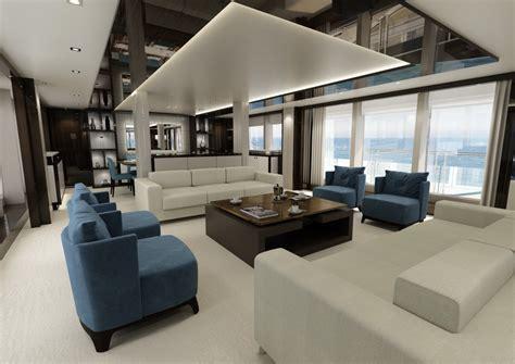 ultra modern mega yacht interior sunseeker 131 super tri deck yacht london boat show 2016
