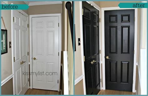 Painting Interior Doors Black Before And After by Painting Interior Doors Black List