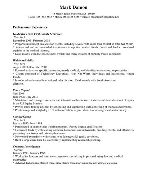 resume sales representative job description sle