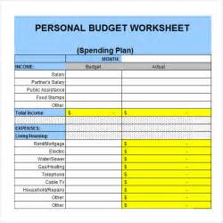 template for personal budget sle personal budget documents in pdf word excel