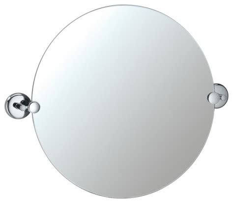 round tilting bathroom mirror contemporary gatco vogue 24 1 2 quot high round tilting wall