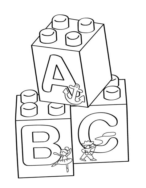 abc see hear do coloring book books lego a b c blocks coloring page free printable coloring