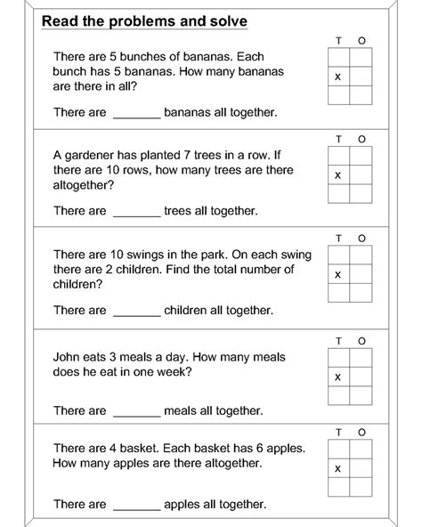 Word Problem Worksheets by Math Multiplication Word Problems Worksheets