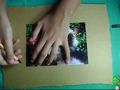 como hacer portaretratos de carton como hacer un portarretrato de cart 243 n youtube