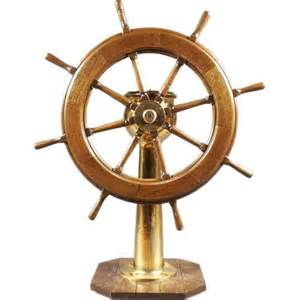 Ship Steering Wheels For Sale An American Brass And Wood Ship S Wheel And Steering