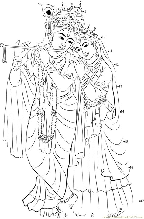 Outline Pictures Of God Krishna by Radha Krishna Coloring Pages Www Imgkid The Image Kid Has It